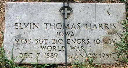 HARRIS, ELVIN THOMAS - Linn County, Iowa | ELVIN THOMAS HARRIS