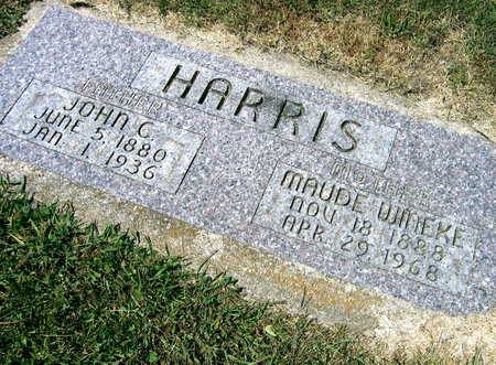 WINEKE HARRIS, MAUDE - Linn County, Iowa | MAUDE WINEKE HARRIS