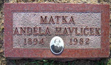 HAVLICEK, ANDELA - Linn County, Iowa   ANDELA HAVLICEK