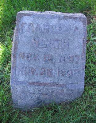 HEATH, FRANCIS A. - Linn County, Iowa   FRANCIS A. HEATH