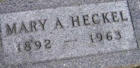 HECKEL, MARY A. - Linn County, Iowa | MARY A. HECKEL