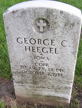 HEEGEL, GEORGE C. - Linn County, Iowa | GEORGE C. HEEGEL