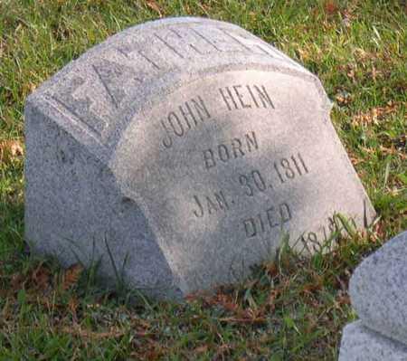 HEIN, JOHN - Linn County, Iowa | JOHN HEIN