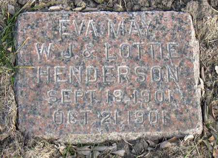 HENDERSON, EVA MAY - Linn County, Iowa | EVA MAY HENDERSON