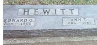 HEWITT, LEONARD G. - Linn County, Iowa | LEONARD G. HEWITT
