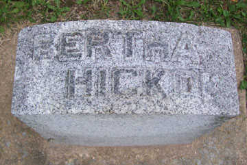 HICKOK, BERTHA - Linn County, Iowa | BERTHA HICKOK