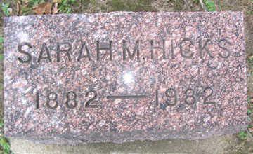 HICKS, SARAH M. - Linn County, Iowa   SARAH M. HICKS