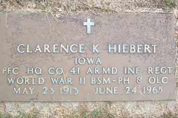 HIEBERT, CLARENCE K. - Linn County, Iowa | CLARENCE K. HIEBERT
