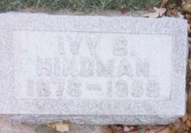 HINDMAN, IVY B. - Linn County, Iowa | IVY B. HINDMAN