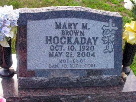 HOCKADAY, MARY M. - Linn County, Iowa | MARY M. HOCKADAY
