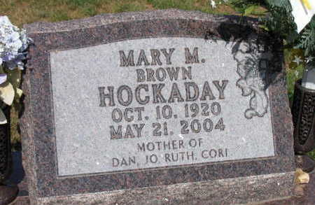 BROWN HOCKADAY, MARY M. - Linn County, Iowa | MARY M. BROWN HOCKADAY