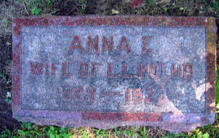 HOLUB, ANNA E. - Linn County, Iowa | ANNA E. HOLUB