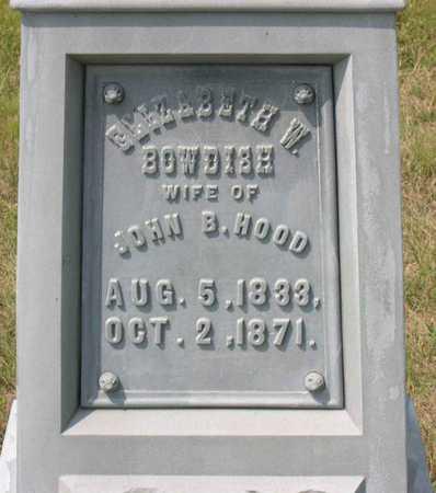 BOWDISH HOOD, ELIZABETH W. - Linn County, Iowa | ELIZABETH W. BOWDISH HOOD