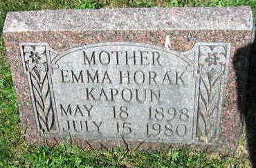 HORAK, EMMA - Linn County, Iowa | EMMA HORAK