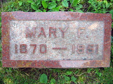 HORAK, MARY F. - Linn County, Iowa | MARY F. HORAK