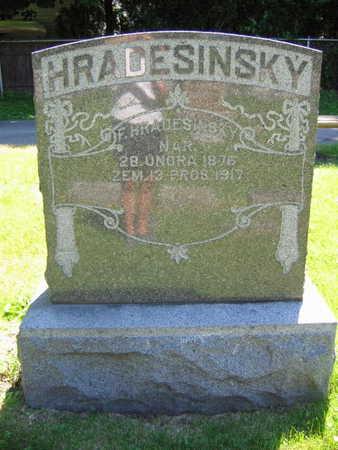 HRADESINSKY, F. - Linn County, Iowa | F. HRADESINSKY