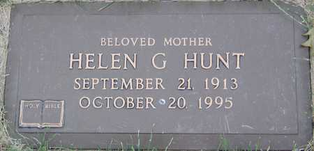 HUNT, HELEN G - Linn County, Iowa | HELEN G HUNT