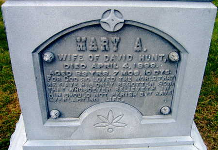 HUNT, MARY A. - Linn County, Iowa | MARY A. HUNT