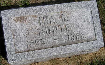 HUNTE, INA G. - Linn County, Iowa | INA G. HUNTE