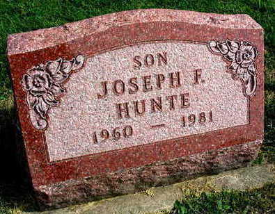 HUNTE, JOSEPH F. - Linn County, Iowa | JOSEPH F. HUNTE