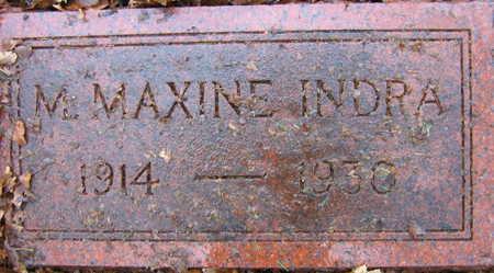 INDRA, M. MAXINE - Linn County, Iowa | M. MAXINE INDRA