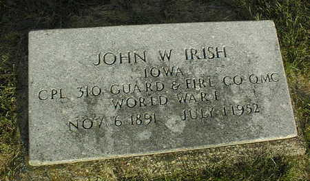 IRISH, JOHN W. - Linn County, Iowa | JOHN W. IRISH