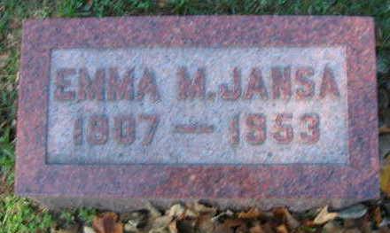 JANSA, EMMA M - Linn County, Iowa | EMMA M JANSA