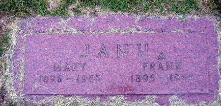 JANU, MARY - Linn County, Iowa | MARY JANU