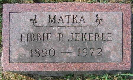 JEKERLE, LIBBIE P. - Linn County, Iowa | LIBBIE P. JEKERLE