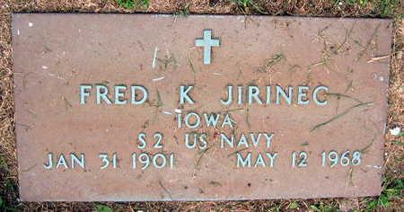 JIRINEC, FRED K. - Linn County, Iowa   FRED K. JIRINEC
