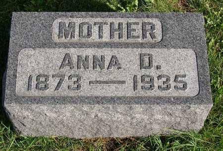JOHNSTON, ANNA D. - Linn County, Iowa   ANNA D. JOHNSTON