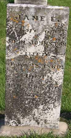 JOHNSTON, JANE E. - Linn County, Iowa   JANE E. JOHNSTON