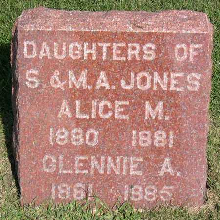 JONES, ALICE M. - Linn County, Iowa | ALICE M. JONES