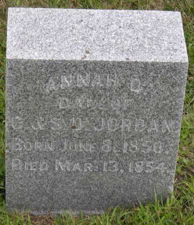 JORDAN, ANNA O. - Linn County, Iowa | ANNA O. JORDAN