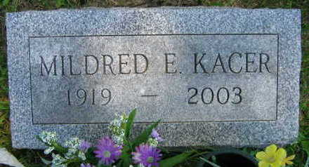 KACER, MILDRED E. - Linn County, Iowa | MILDRED E. KACER