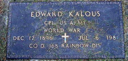 KALOUS, EDWARD - Linn County, Iowa | EDWARD KALOUS