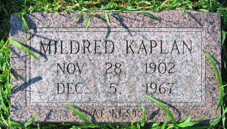 KAPLAN, MILDRED - Linn County, Iowa | MILDRED KAPLAN