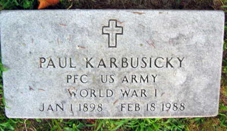 KARBUSICKY, PAUL - Linn County, Iowa | PAUL KARBUSICKY