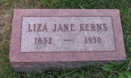 KERNS, LIZA JANE - Linn County, Iowa | LIZA JANE KERNS