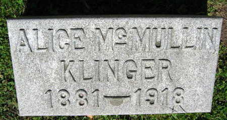 KLINGER, ALICE - Linn County, Iowa | ALICE KLINGER