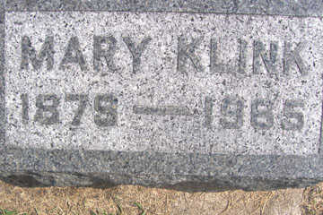 KLINK, MARY - Linn County, Iowa | MARY KLINK