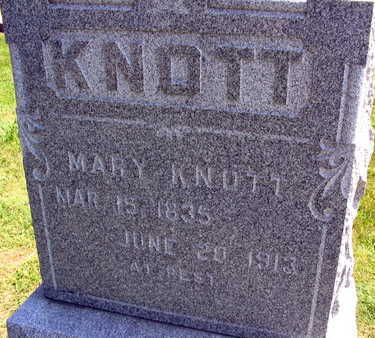 KNOTT, MARY - Linn County, Iowa | MARY KNOTT