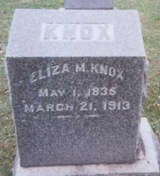 KNOX, ELIZA M. - Linn County, Iowa | ELIZA M. KNOX