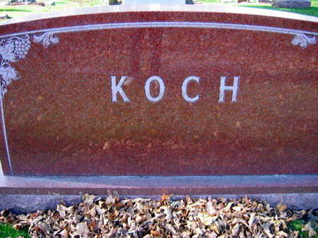 KOCH, FAMILY STONE - Linn County, Iowa | FAMILY STONE KOCH