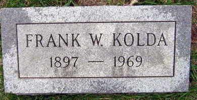 KOLDA, FRANK W. - Linn County, Iowa   FRANK W. KOLDA