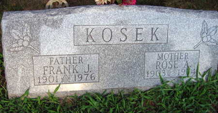 KOSEK, ROSE A. - Linn County, Iowa | ROSE A. KOSEK