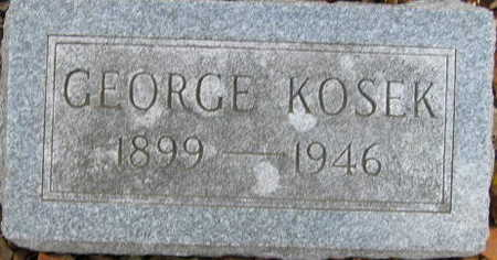 KOSEK, GEORGE - Linn County, Iowa | GEORGE KOSEK