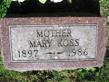 KOSS, MARY - Linn County, Iowa | MARY KOSS