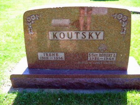 KOUTSKY, ROBERT E.   (S./SGT. ROBERT E.) - Linn County, Iowa | ROBERT E.   (S./SGT. ROBERT E.) KOUTSKY