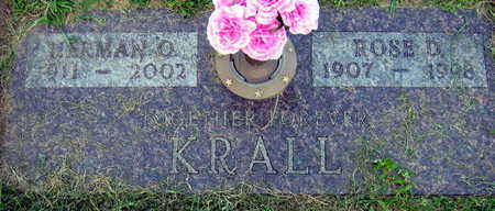 KRALL, ROSE D. - Linn County, Iowa | ROSE D. KRALL